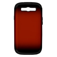 Brown Gradient Frame Samsung Galaxy S III Hardshell Case (PC+Silicone)