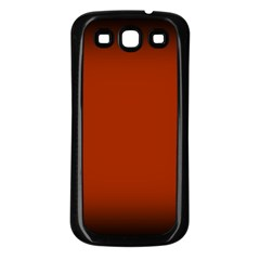 Brown Gradient Frame Samsung Galaxy S3 Back Case (Black)