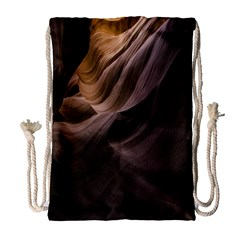 Canyon Desert Landscape Pattern Drawstring Bag (Large)