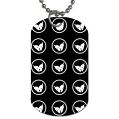 Butterfly Wallpaper Background Dog Tag (One Side)