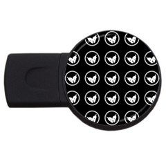 Butterfly Wallpaper Background USB Flash Drive Round (1 GB)