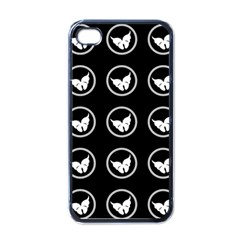 Butterfly Wallpaper Background Apple iPhone 4 Case (Black)