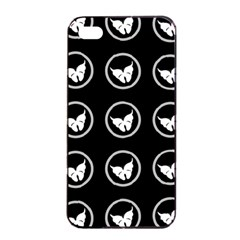 Butterfly Wallpaper Background Apple iPhone 4/4s Seamless Case (Black)