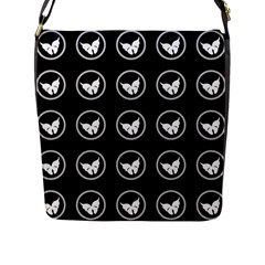 Butterfly Wallpaper Background Flap Messenger Bag (L)