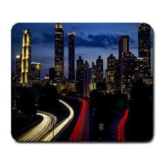 Building And Red And Yellow Light Road Time Lapse Large Mousepads