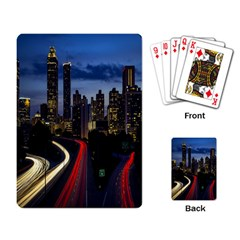Building And Red And Yellow Light Road Time Lapse Playing Card