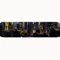 Building And Red And Yellow Light Road Time Lapse Large Bar Mats