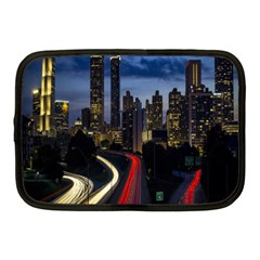 Building And Red And Yellow Light Road Time Lapse Netbook Case (Medium)
