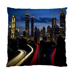Building And Red And Yellow Light Road Time Lapse Standard Cushion Case (One Side)