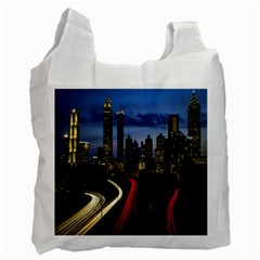 Building And Red And Yellow Light Road Time Lapse Recycle Bag (One Side)