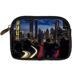 Building And Red And Yellow Light Road Time Lapse Digital Camera Cases