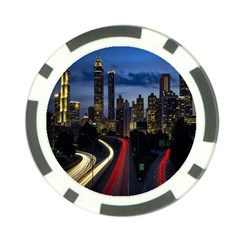 Building And Red And Yellow Light Road Time Lapse Poker Chip Card Guard (10 pack)
