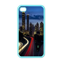 Building And Red And Yellow Light Road Time Lapse Apple iPhone 4 Case (Color)