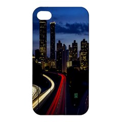 Building And Red And Yellow Light Road Time Lapse Apple iPhone 4/4S Premium Hardshell Case