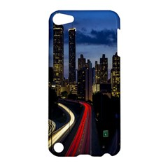 Building And Red And Yellow Light Road Time Lapse Apple iPod Touch 5 Hardshell Case