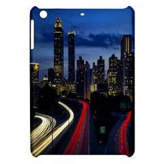 Building And Red And Yellow Light Road Time Lapse Apple iPad Mini Hardshell Case