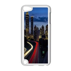Building And Red And Yellow Light Road Time Lapse Apple iPod Touch 5 Case (White)