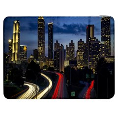 Building And Red And Yellow Light Road Time Lapse Samsung Galaxy Tab 7  P1000 Flip Case