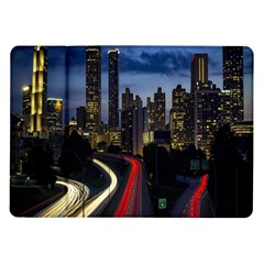 Building And Red And Yellow Light Road Time Lapse Samsung Galaxy Tab 10.1  P7500 Flip Case