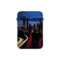 Building And Red And Yellow Light Road Time Lapse Apple iPad Mini Protective Soft Cases