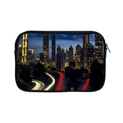 Building And Red And Yellow Light Road Time Lapse Apple iPad Mini Zipper Cases