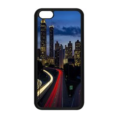 Building And Red And Yellow Light Road Time Lapse Apple iPhone 5C Seamless Case (Black)