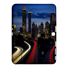 Building And Red And Yellow Light Road Time Lapse Samsung Galaxy Tab 4 (10.1 ) Hardshell Case