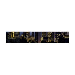 Building And Red And Yellow Light Road Time Lapse Flano Scarf (Mini)