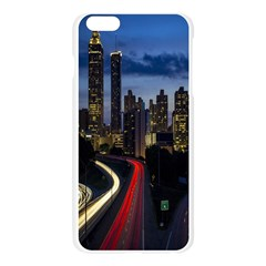 Building And Red And Yellow Light Road Time Lapse Apple Seamless iPhone 6 Plus/6S Plus Case (Transparent)