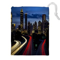 Building And Red And Yellow Light Road Time Lapse Drawstring Pouches (XXL)