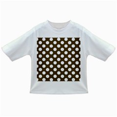 Brown Polkadot Background Infant/Toddler T-Shirts