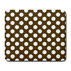 Brown Polkadot Background Large Mousepads