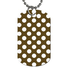 Brown Polkadot Background Dog Tag (One Side)