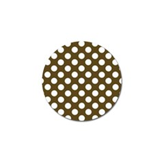 Brown Polkadot Background Golf Ball Marker (10 pack)