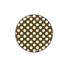 Brown Polkadot Background Hat Clip Ball Marker (4 pack)