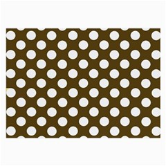 Brown Polkadot Background Large Glasses Cloth