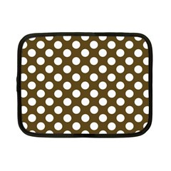 Brown Polkadot Background Netbook Case (Small)