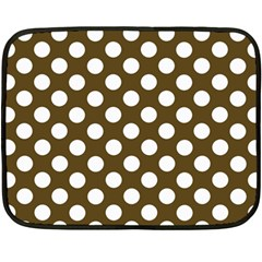Brown Polkadot Background Fleece Blanket (Mini)