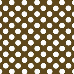 Brown Polkadot Background Magic Photo Cubes