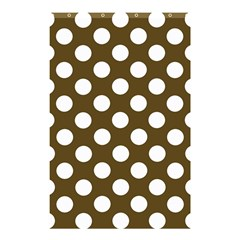 Brown Polkadot Background Shower Curtain 48  x 72  (Small)