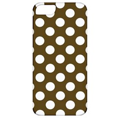 Brown Polkadot Background Apple iPhone 5 Classic Hardshell Case