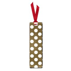 Brown Polkadot Background Small Book Marks