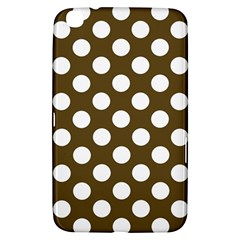 Brown Polkadot Background Samsung Galaxy Tab 3 (8 ) T3100 Hardshell Case