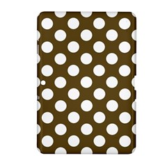 Brown Polkadot Background Samsung Galaxy Tab 2 (10.1 ) P5100 Hardshell Case