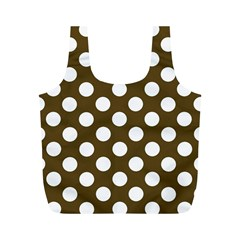 Brown Polkadot Background Full Print Recycle Bags (m)