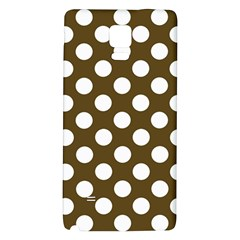 Brown Polkadot Background Galaxy Note 4 Back Case