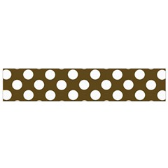 Brown Polkadot Background Flano Scarf (Small)