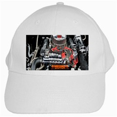 Car Engine White Cap