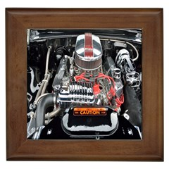 Car Engine Framed Tiles
