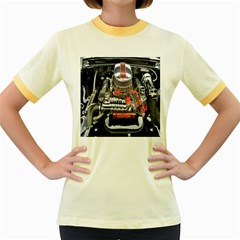 Car Engine Women s Fitted Ringer T-Shirts